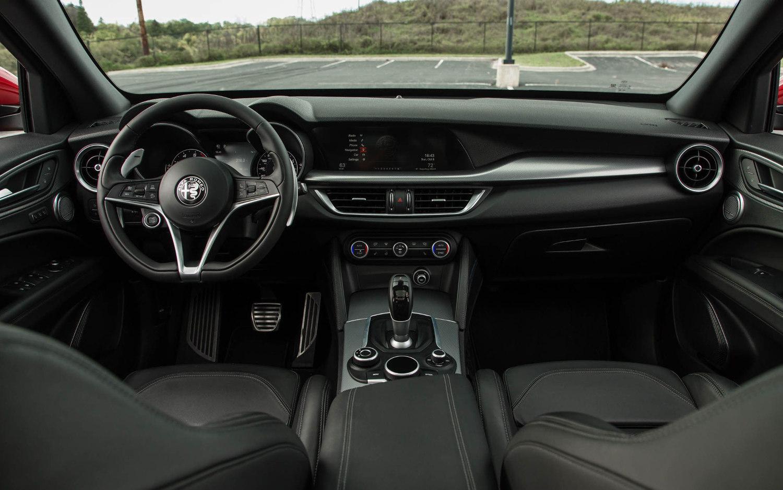 Comparison Alfa Romeo Stelvio Quadrifoglio 2018 Vs Jaguar F Interior 1