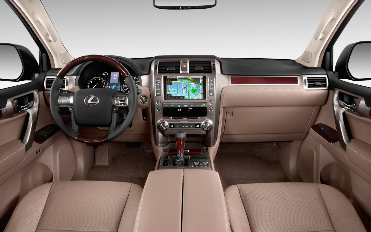 Lexus Gx 460 White With Sepia Interior