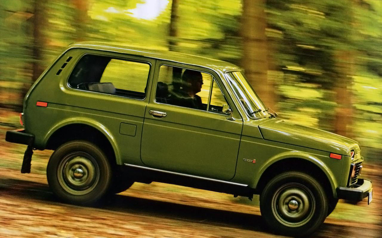 Lada Niva 4x4 2017 on model a car door