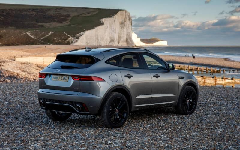 comparison toyota rav4 hybrid se 2018 vs jaguar e pace r dynamic hse 2018 suv drive. Black Bedroom Furniture Sets. Home Design Ideas