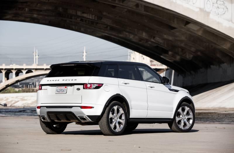 Back Land Rover Range Rover Evoque Rear Three Quarter on Fuel Tank Capacity 2016 Evoque