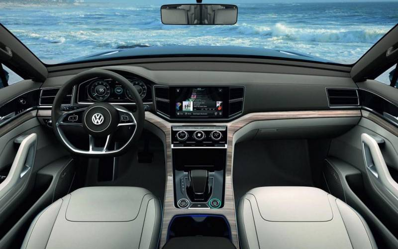 2017 Volkswagen Touareg V6 Sport With Technology >> Comparison - Volkswagen Atlas R-line 2018 - vs - Volkswagen Touareg V6 Executive 2017   SUV Drive