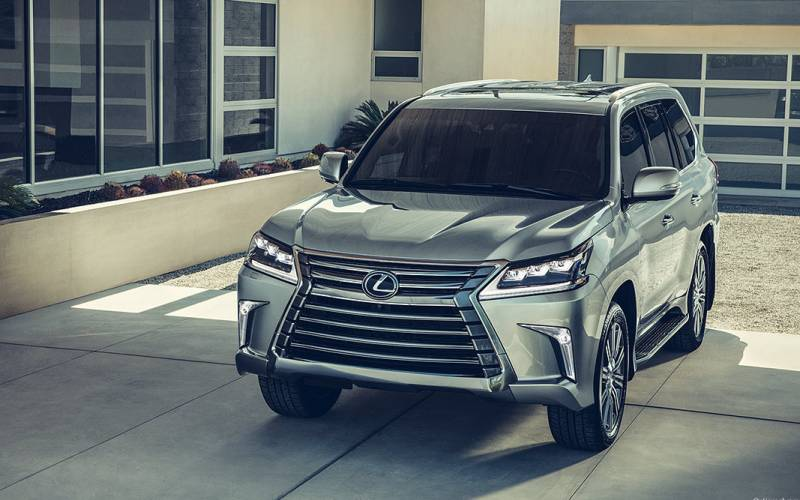 Front View Lexus Lx on Toyota Land Cruiser V8