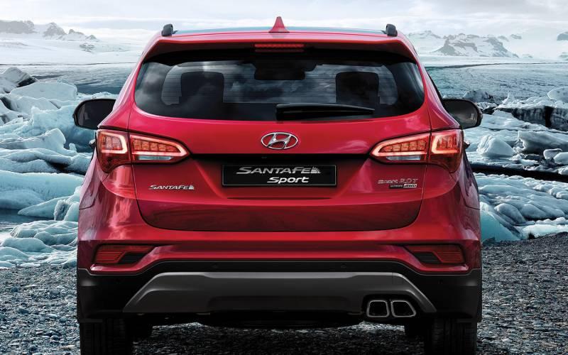 Subaru Outback Vs Forester >> Comparison - Hyundai Santa Fe Sport Ultimate 2017 - vs ...
